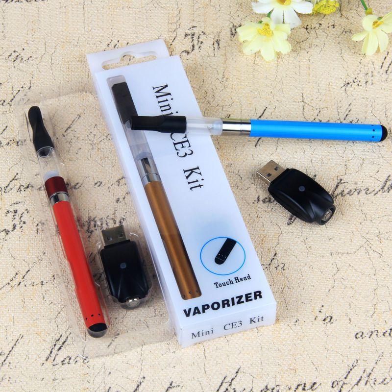 Vendita calda Mini CE3 Blister Kit Vaporizzatore gemma Touch Batteria 280mah CE3 510 Cartuccia vaporizzatore serbatoio vape penne E Sigaretta Blister Kit