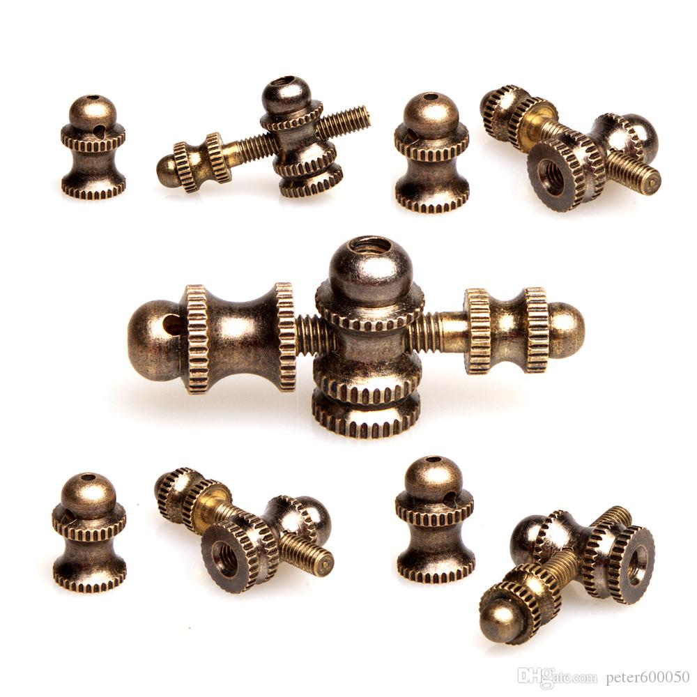 Frete Grátis 5 conjuntos de máquina de Tatuagem Gun parts kits tattoo parafusos de contato de bronze fichário de parafuso conjunto de suprimentos