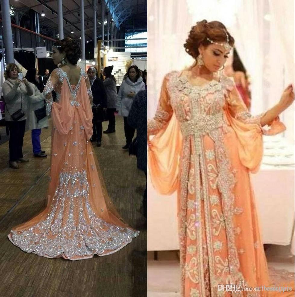 Unique Arabic Kaftan Runway Evening Dresses Bat Long Sleeves Lace Applique Abaya  Prom Dresses Chiffon Dubai Evening Gowns Custom Made Buy Evening Dress ... b7f997abf2cb