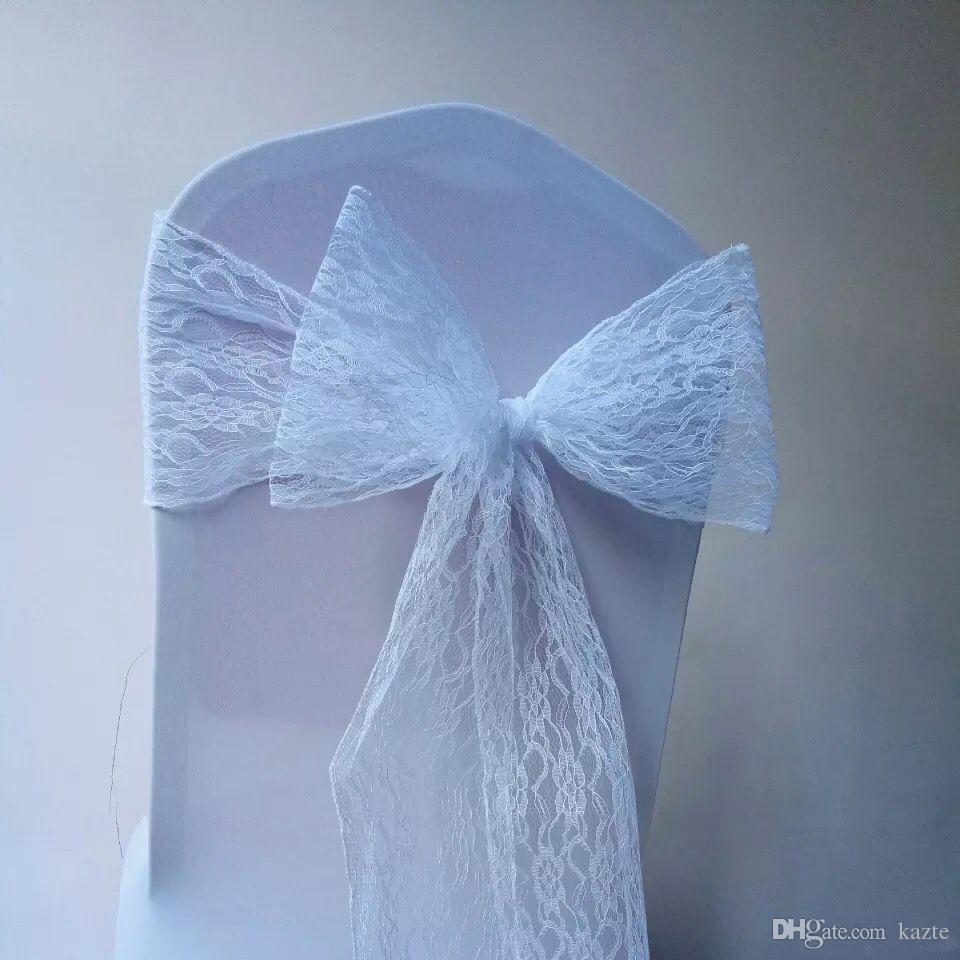 Arc en dentelle chaise de mariage arcs de mariage fête d'anniversaire événements décroation chaise