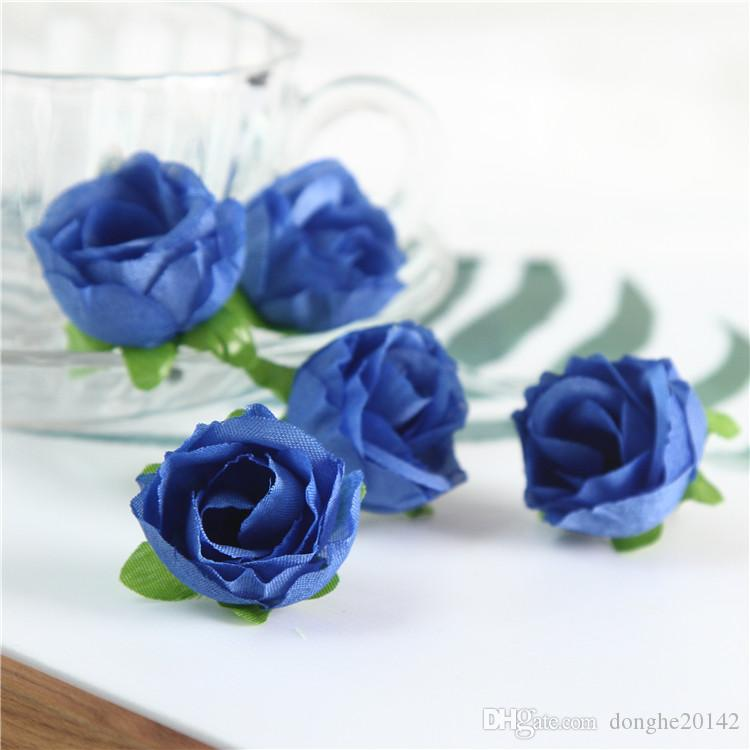 """Artificial Silk Rose 1.2""""Flower Head Bud Home Wedding Home Decor Hair Clip Artificial Flowers Wedding Party Display Flower"""
