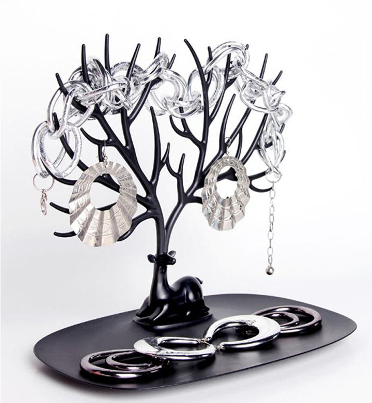 New My Little Deer Tray Jewelry Accessories Tree Necklace Earring Ring Watch Key Organizer Jewelry Display Stand Wedding Decorations Favors