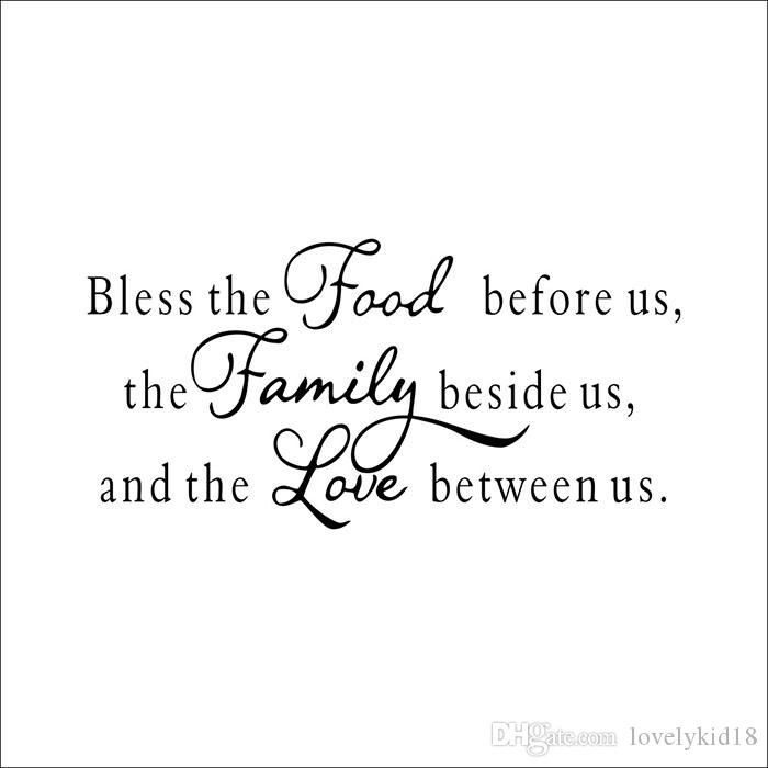 bless food family love wall stickers religious quotes wall decals