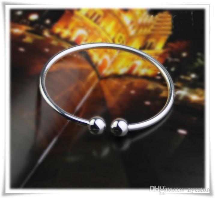S925 Bracelets en plaqué argent à rétention de couleur durable ouvrant des bijoux de luxe réglables pour les femmes