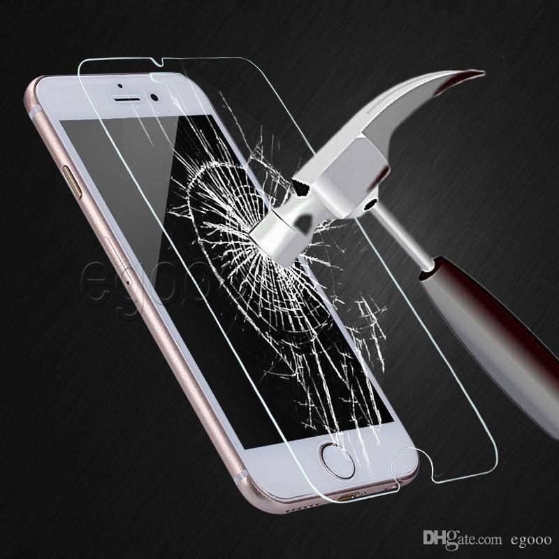 Für 12 iPhone 11 pro max XR XS 8 7 6S Plus-ausgeglichene Glas-Schirm-Schutz-9H Splitterschutzfolie für Samsung J7 Prime 2017 2018 LG Stylo 4 3