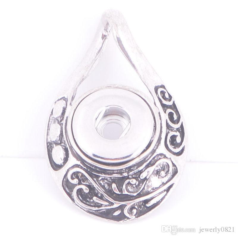 Il più nuovo Noosa Antique Silver Ginger Snap Button Pendant Fit 12mm Snap Button gioielli con ciondoli intercambiabili le donne