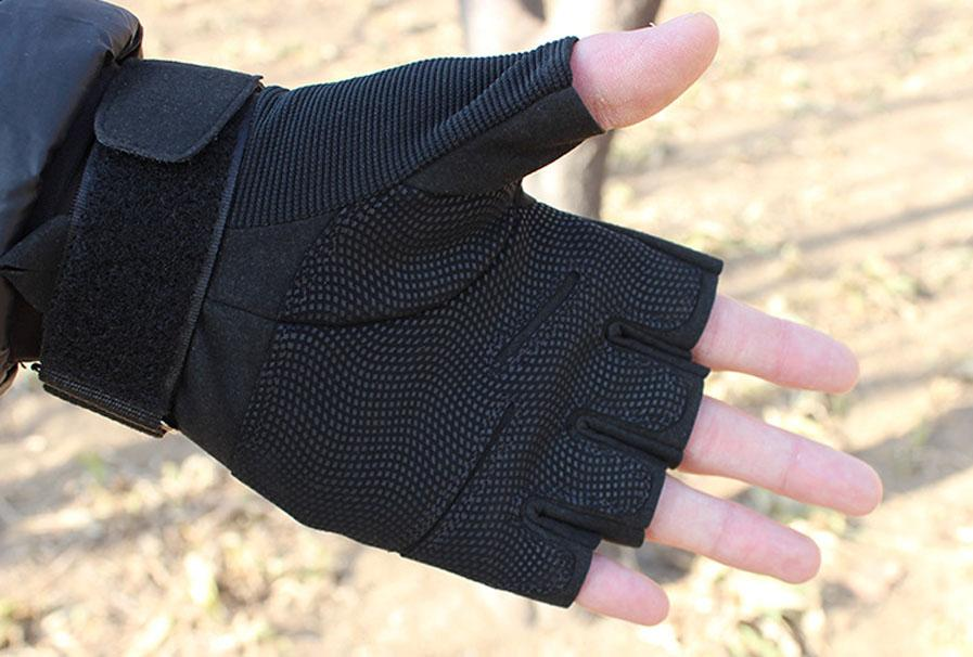 Fingerless Outdoor Airsoft Hunting Paintball Cycling Army Tactical Gloves, bicycle antiskid fitness sports Glove