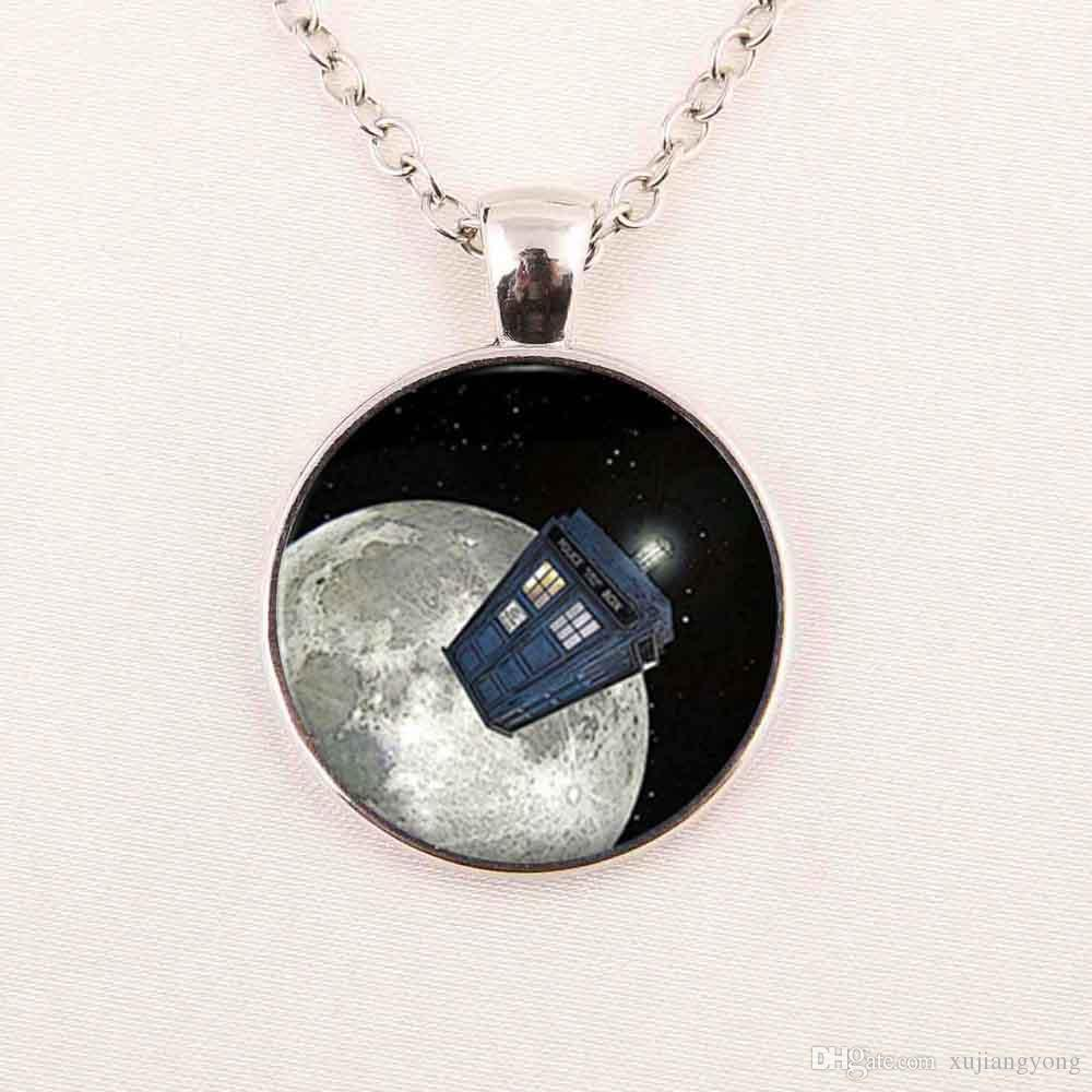 Wholesale wholesale art glass pendant doctor who tardis space wholesale wholesale art glass pendant doctor who tardis space necklace doctor who police box jewelry glass cabochon dome pendant chunky necklaces pendant aloadofball Gallery