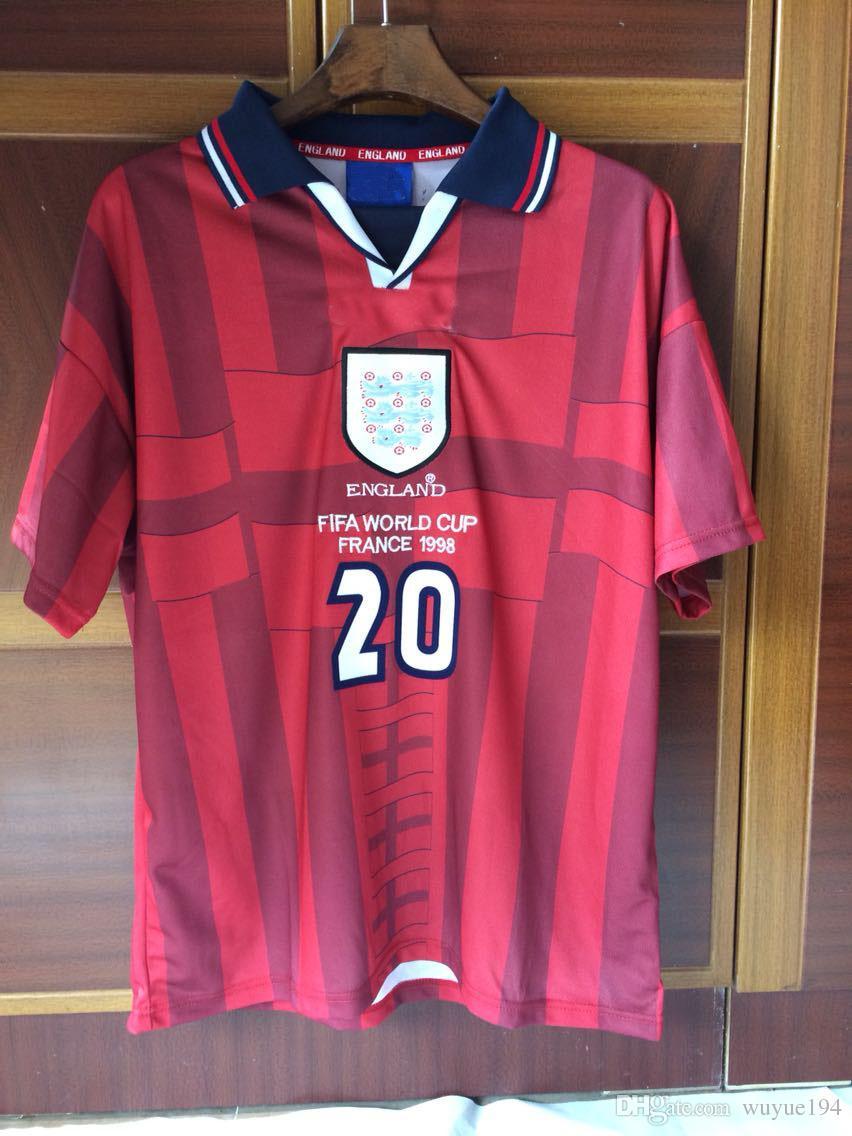 ... Jerseys 1998 World Cup England Away Red Jerseys Owen Scholes CAMPBELL  Adams Alan Shearer Ince Beckham Italy 2002 World Cup TOTTI Online with ...  Croatia . 8e94266c0