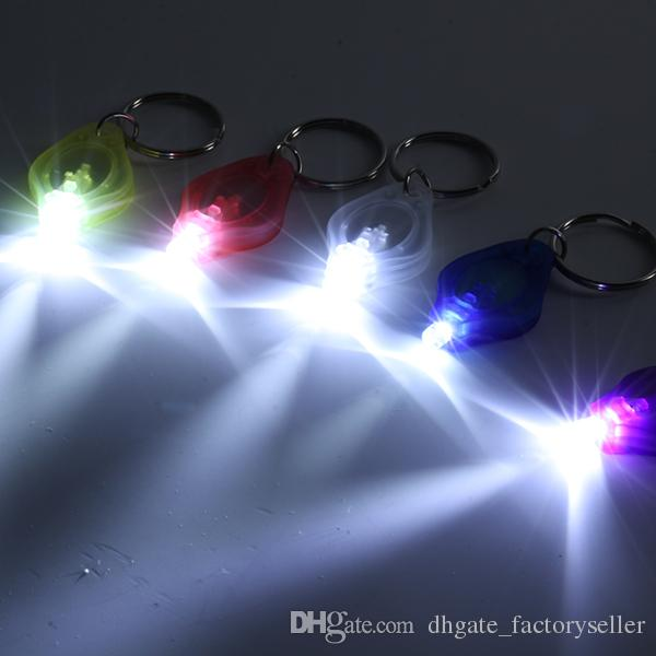 20000mcd LED Flashlight White Torch Key Chains Ring Keyrings White Light LED Flashlight Keychain Torch Light Key Chains
