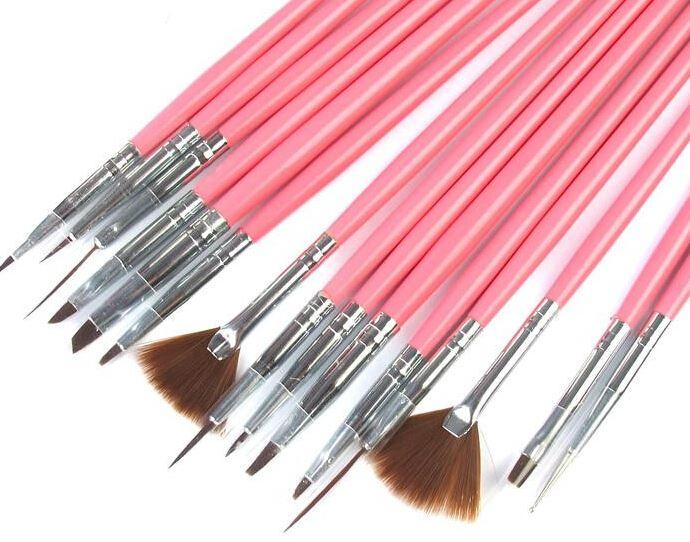 Makeup Brushes Make up Brushes Professional Gel Polish Painting Nail Flower Art Pen Dotting Drawing Tool For Natural False 3D Beauty