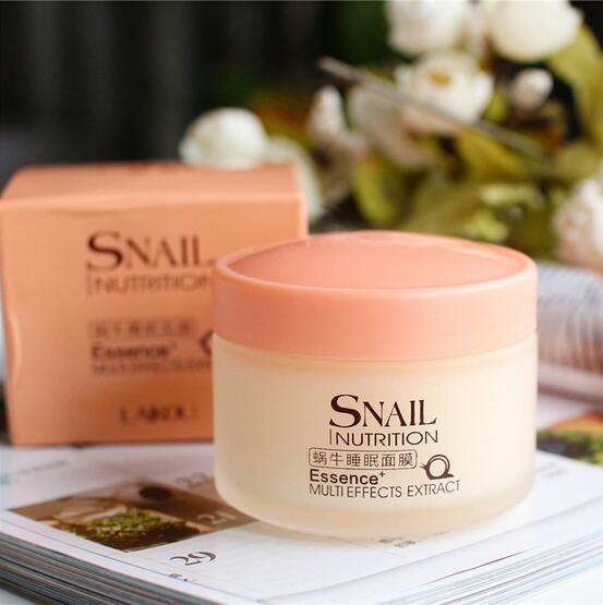 Snail Facial Sleeping Mask Cream Face Care Skin sleeping Cream Moisturizing