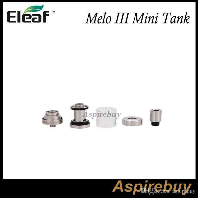 Eleaf Melo III Melo III Mini Atomizador com Controle de Fluxo de Ar Oculto e Projeto Top-enchimento Melo 3 Tanque 4 ML Melo 3 Mini 2 ML DHL Livre Original