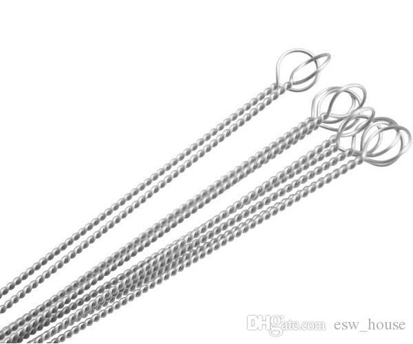 100X очистители труб нейлоновые соломенные очистители щетка для очистки питьевой трубы очиститель труб из нержавеющей стали E260531