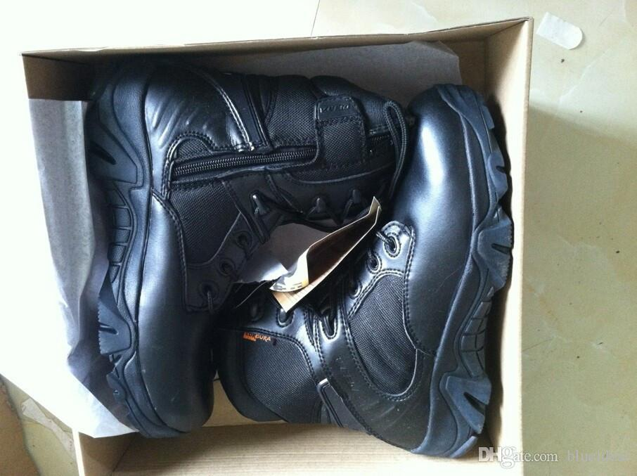 """7"""" Delta Tactical Boots,Military Desert Combat Boots Shoes Summer Breathable Boots,SAND AND BLACK,EUR SIZE 39-45"""
