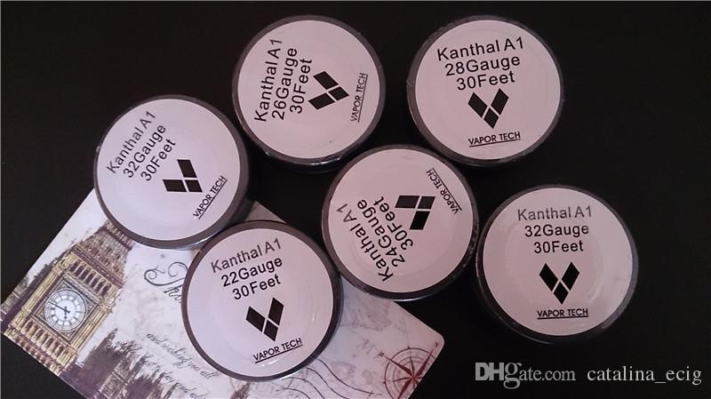 KanthalA1 original fil mèche bobine de résistance de chauffage 30 pieds AWG AWG 24 26 28 30 32 jauge pour bricolage reconstructible RDA RBA ecig