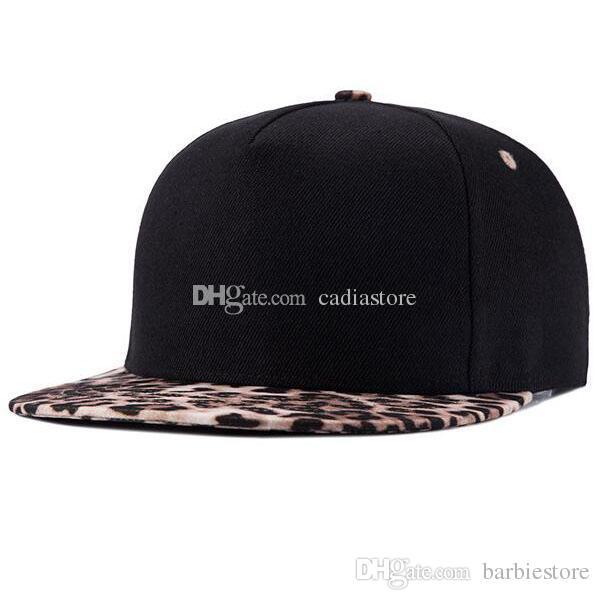 3732209b51a Leopard Pattern Hip Hop Black Canvas Snapback Baseball Hat Adjustable  C00278 BARD Punk Hats Beret Cap Beanie Cap Online with  6.15 Piece on  Barbiestore s ...