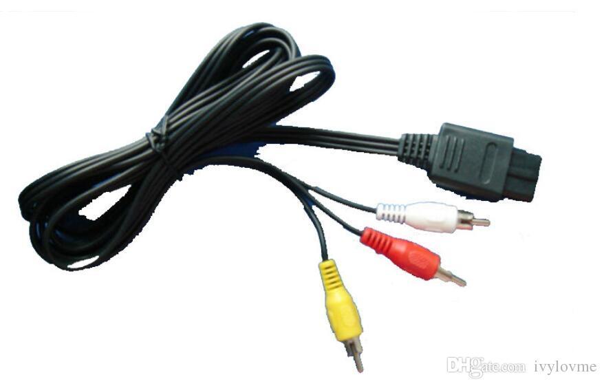 En düşük Fiyat 1.8 M 6FT AV TV S-Video Süper Nintendo Gamecube 64 Için SNES Için NGC Için N64 Için AVC Kablosu