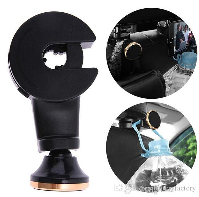 Backseat Headrest Magnet Phone Holder Car Mount Stand Holder stook storage for Bag Purse Cloth with Retail Package