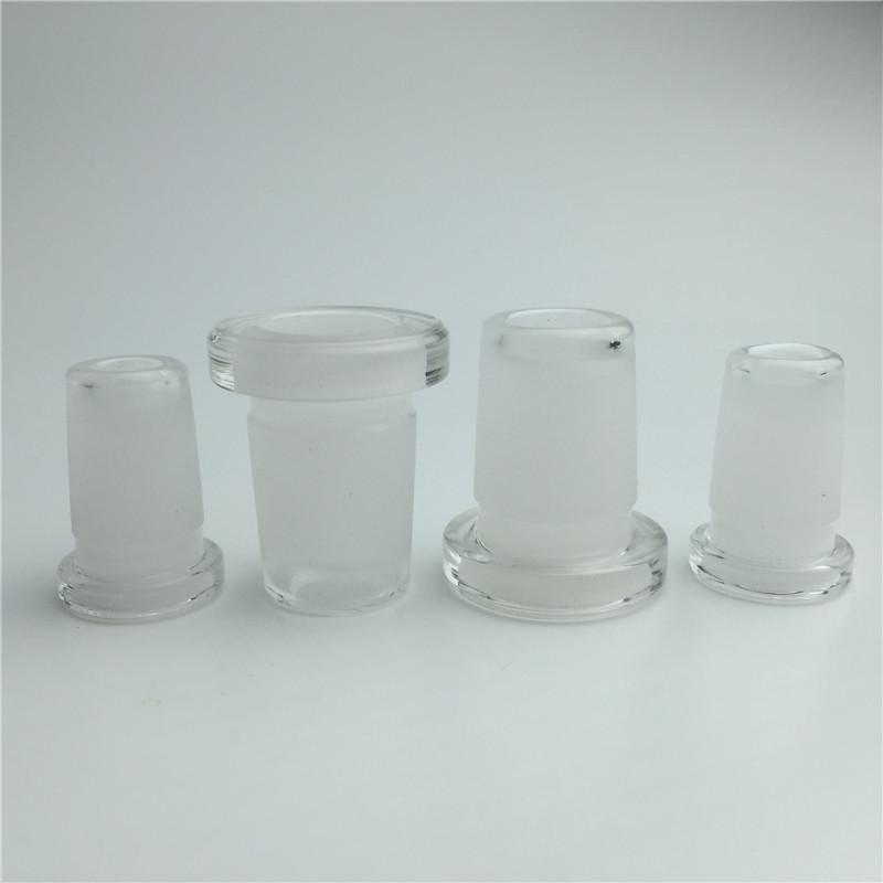 Mini adaptateur de verre 10mm femelle à 14 mm mâle 14mm femelle à 18mm mâle deux style à deux styles de buccade sur verre sur l'adaptateur de verre