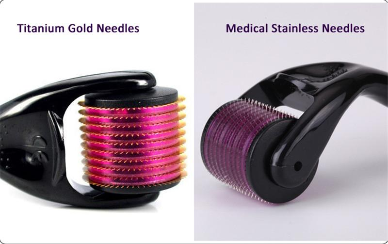 TM- 540 MOQ stainless Needles derma roller microneedle meso Roller deramroller for face skin rejuvenation