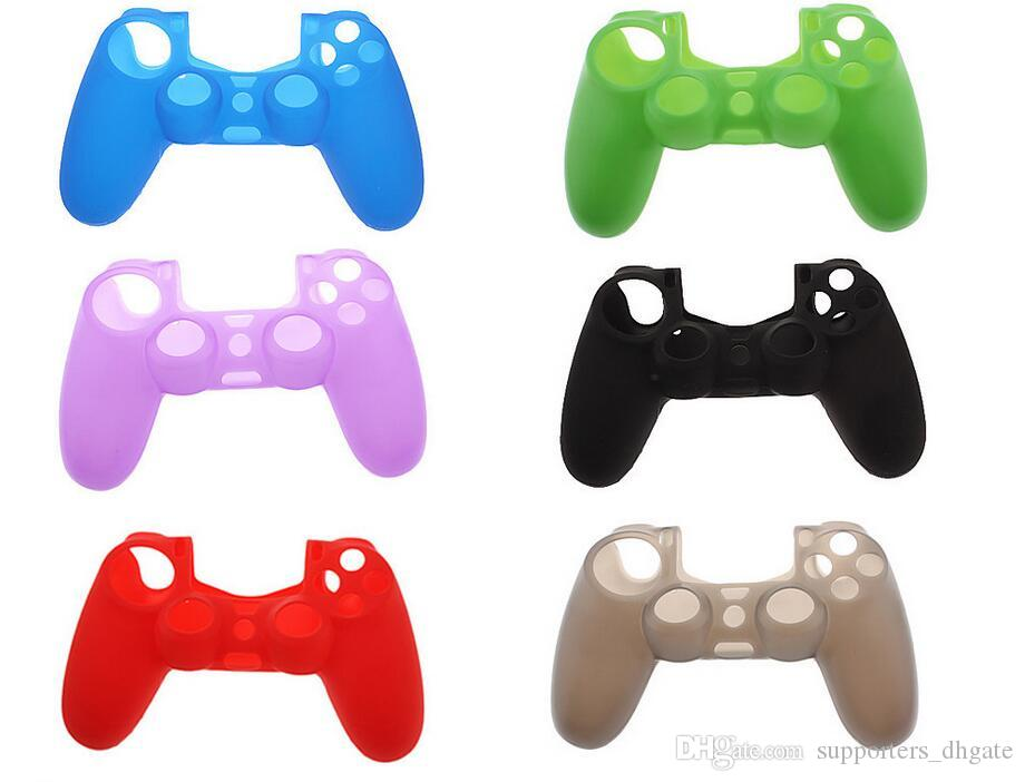 Viele farben weiche silikon gel gummi case skin grip abdeckung für sony playstation 4 ps4 cmicrosoft xbox one xbox 360 wireless controller
