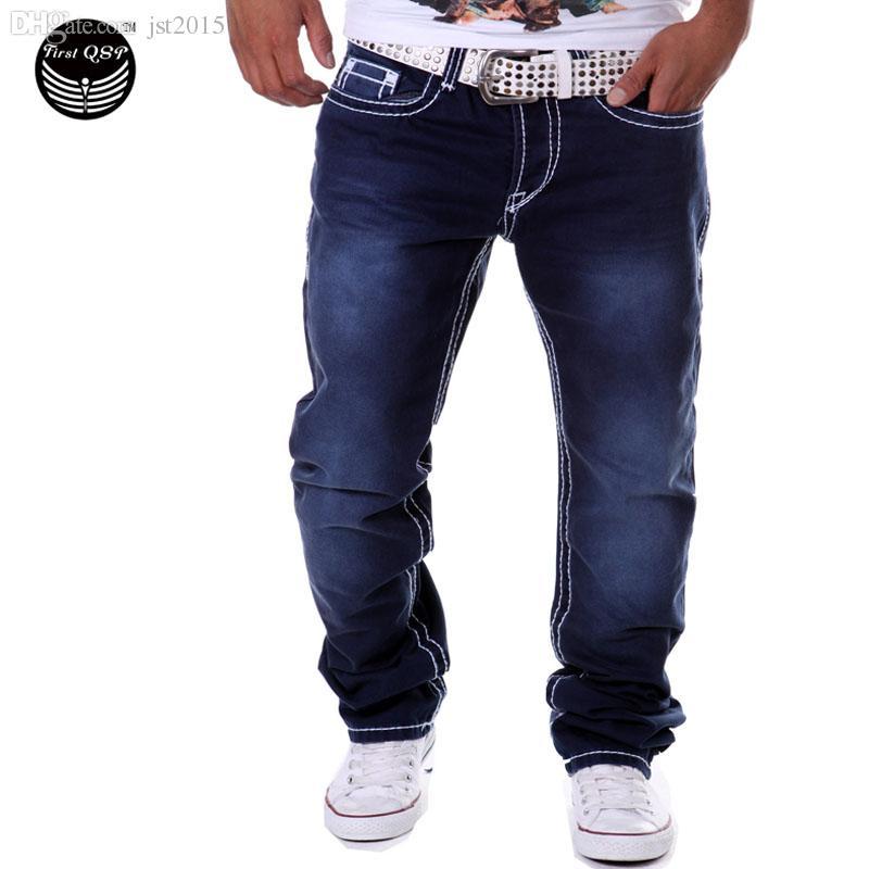 3de84640e 2019 Wholesale Men Jeans 2016 Long Jeans Homme Pantalones Hombre Leisure  Gradient Color Men Pants Double Pocket Jeans Pants QWEOMVXZV From Jst2015