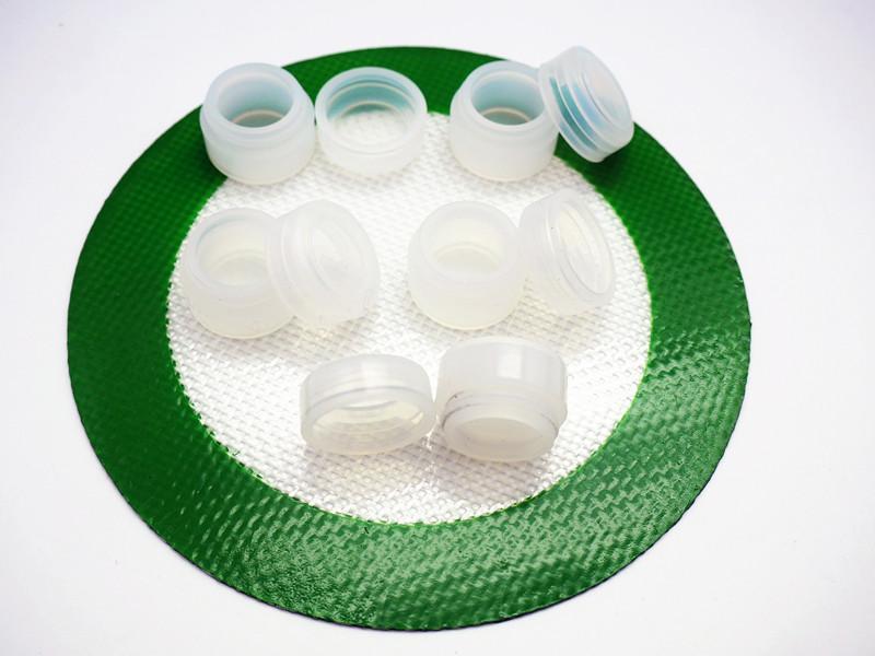 Prix usine 2ml mini bocaux en silicone ronds DAB cire vaporisateur huile conteneur silicone bocaux antiadhésifs pour la cire