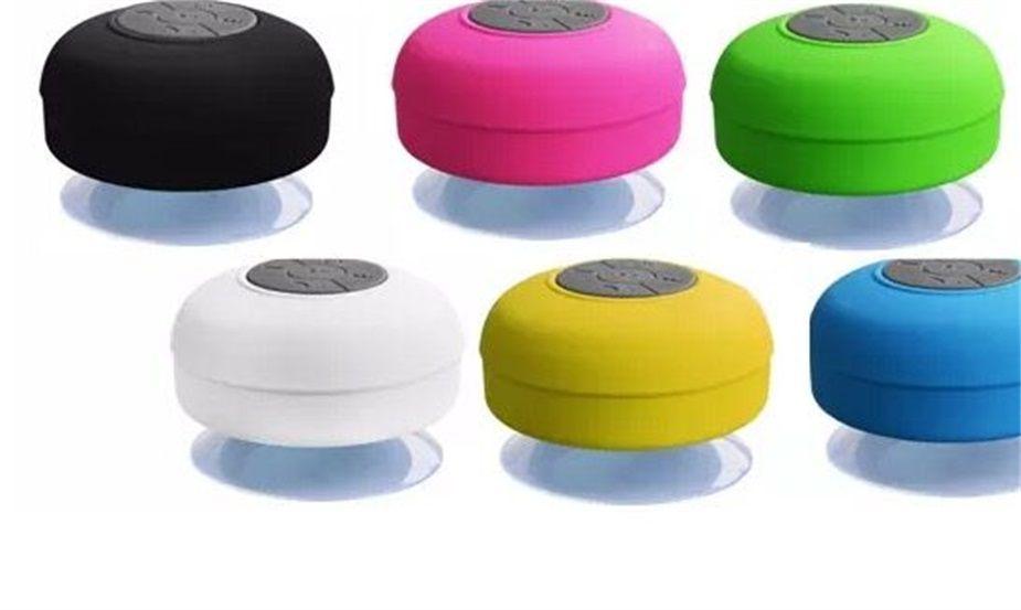 Mini Subwoofer Portátil Chuveiro À Prova D 'Água Sem Fio Bluetooth Speaker Handsfree Carro Receber Chamada Música Sucção Mic Para iPhone Samsung