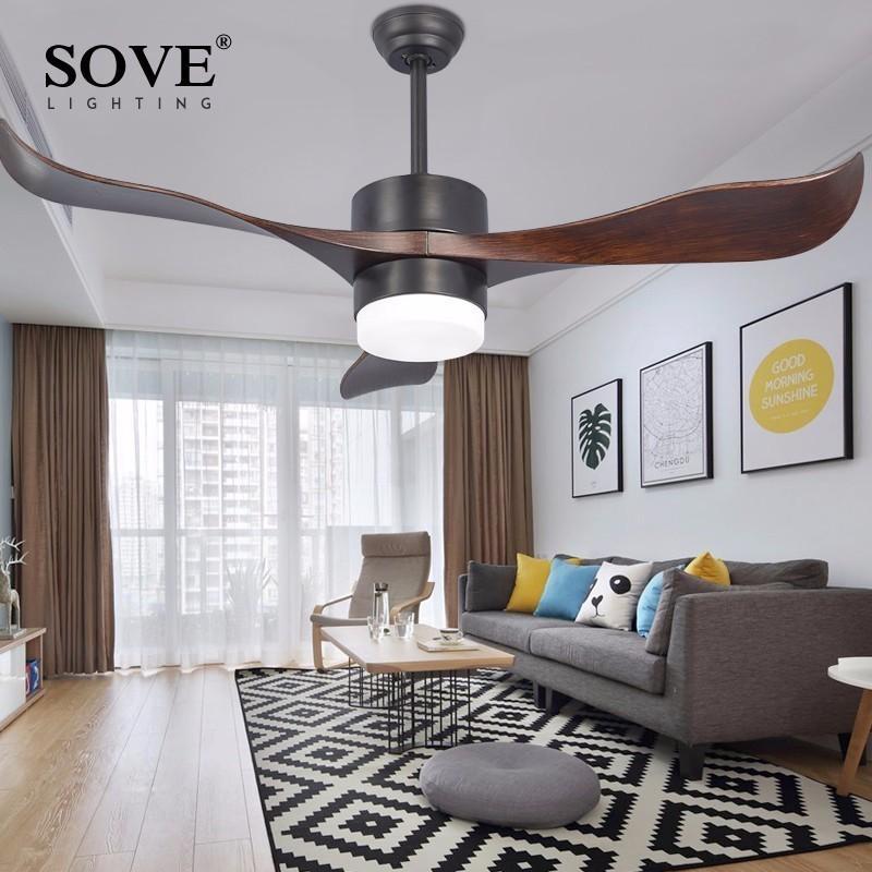 Perfekt Großhandel Sove Moderne Led Brown Village Deckenventilatoren Mit  Beleuchtung Minimalistisches Esszimmer Wohnzimmer Weiße Deckenventilator  Lampe ...