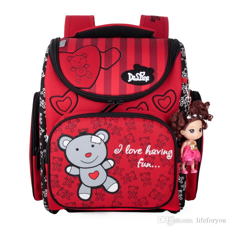 Cute top fashion shoulder bags Cartoon style waterproof Backpack bags folding students school bags High density nylon