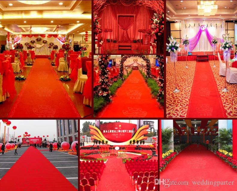 New wedding centerpieces favors red nonwoven fabric carpet aisle new wedding centerpieces favors red nonwoven fabric carpet aisle runner for wedding party decoration supplies shooting prop 20 metersroll wedding junglespirit Choice Image