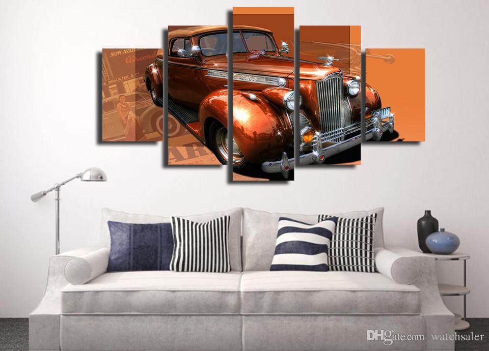 HD Printed retro car Painting Canvas Print room decor print poster picture canvas thomas kinkade