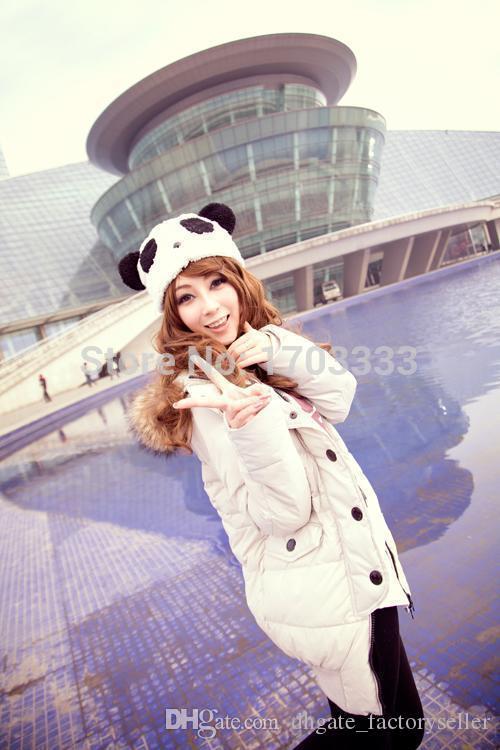 / filles chapeau cadeau doux en peluche Cartoon animaux panda casquette bonnet DHL Fedex livraison gratuite