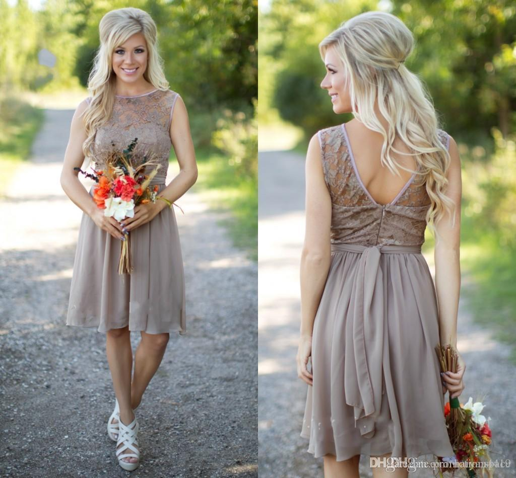 Simple Country Wedding Ideas: Simple Country Bridesmaid Dresses 2016 New Short For