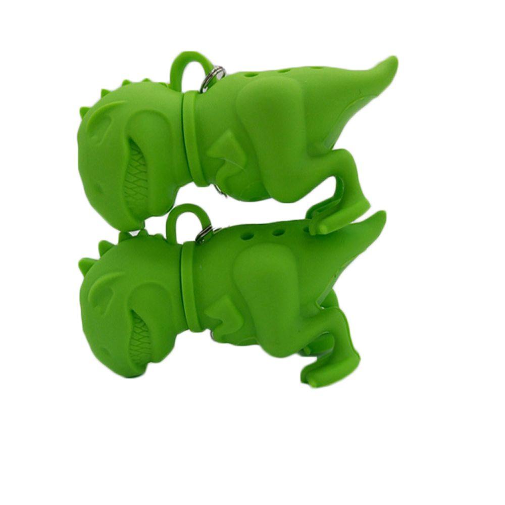 Reuseable Silicone Dinosaur Shape Tea Bag Infuser Holder Tea Coffee Filter Strainer Tea Ball Infusers Kitchen Accessories Random Color