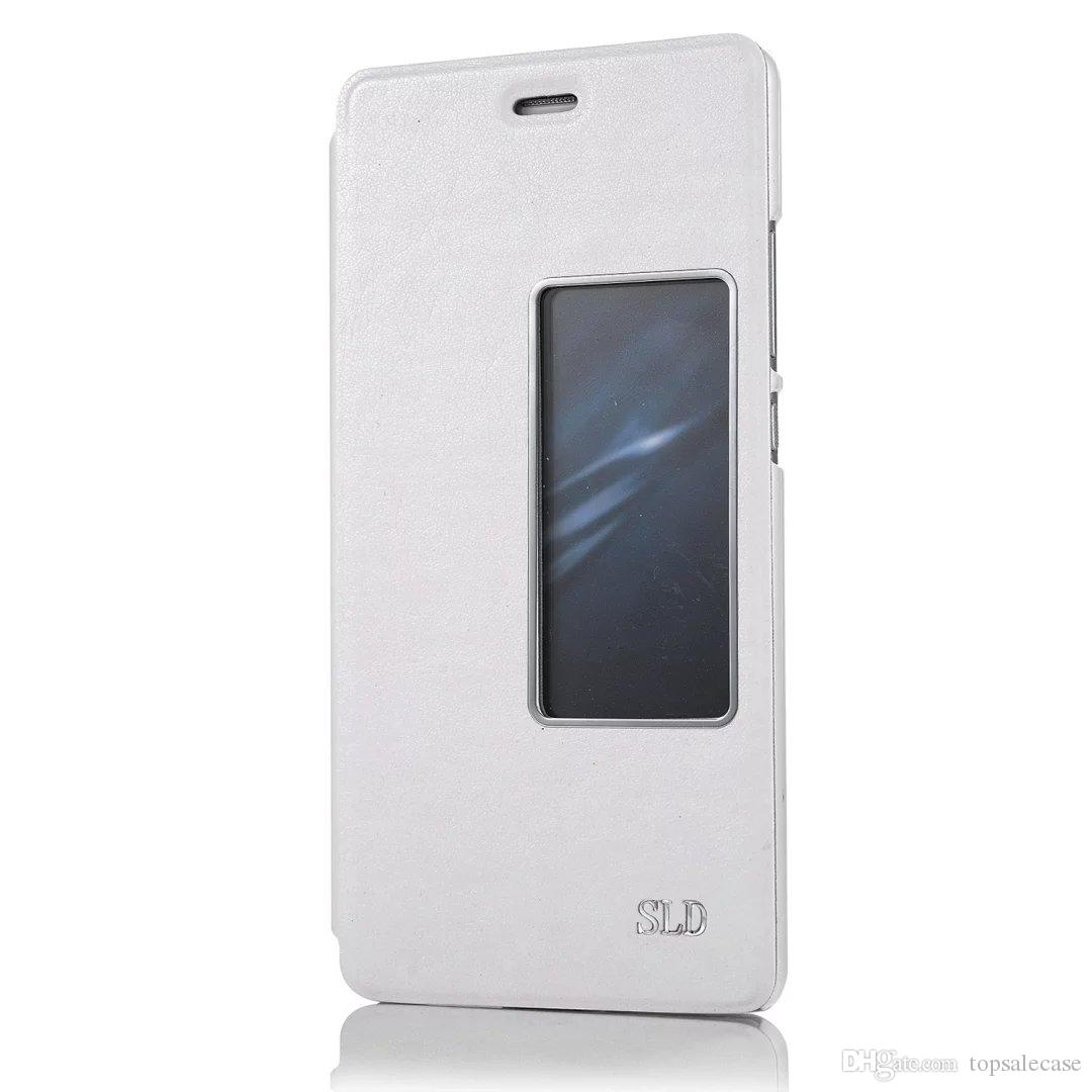 Популярный Для Huawei P9 Case Brand Window Высокое Качество Флип Задняя Крышка Роскошный Красочный Ультратонкий Оригинальный Кожаный Чехол Для Huawei Ascend P9