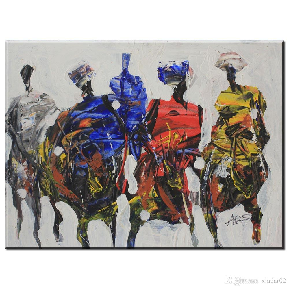 ZZ1359 modern abstract canvas art abstract african people canvas pictures oil art painting for livingroom bedroom decoration art