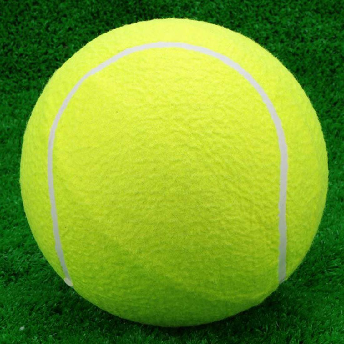 Wholesale- 9.5 Giant Tennis Ball For Pet Chew Toy Big Inflatable Tennis Ball Signature Mega Jumbo Pet Toy Ball Supplies Outdoor Cricket