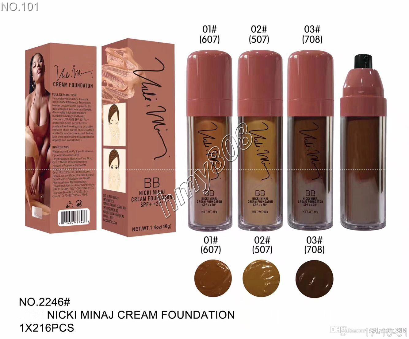 NUEVO Maquillaje BB Nicki Minaj Cream Foundation SPF ++ 20 Impermeable Face Powder Foundation Liquid es