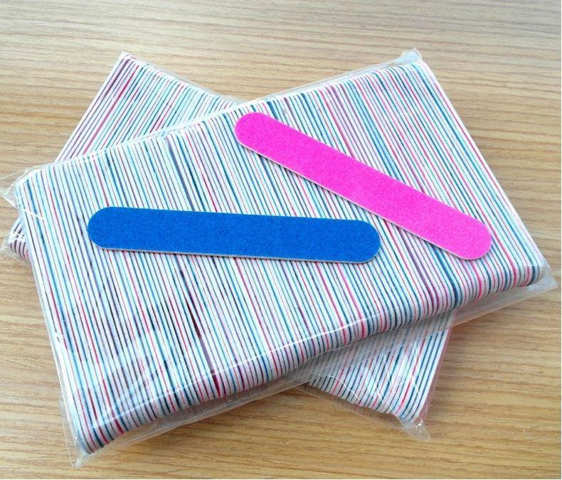 / set Professional Nail Art Double Side Emery Boards azul Lixa mini-prego arquivo de buffer do bloco Ferramenta de Manicure