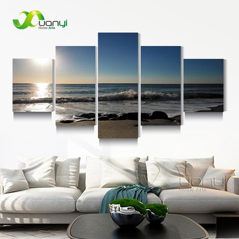 5 Panel Seascape Sunset Canvas Painting Beach Canvas Art Home Wall Picture For Living Room Modern Printing Unframed PR1272