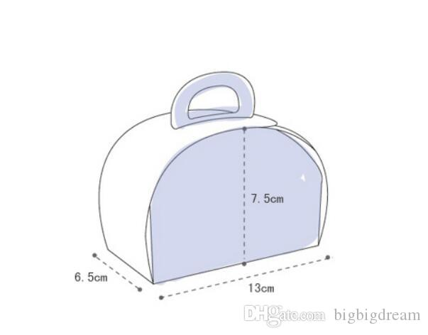 جديد 13x6.5x7.5 سنتيمتر كرافت ورقة مربع الغذاء ، كعكة مربع ، صناديق البسكويت 100 قطعة / الوحدة الوردي شعرية صناديق الشوكولاته شحن مجاني