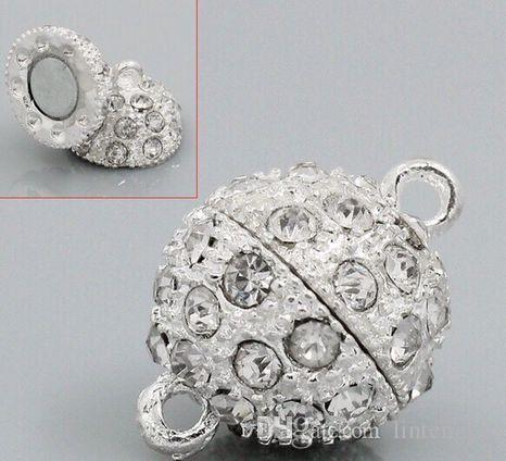 Diy accessories button necklace foreign trade high quality strong magnetic jewelry wholesale 12 mm drill magnet buckle