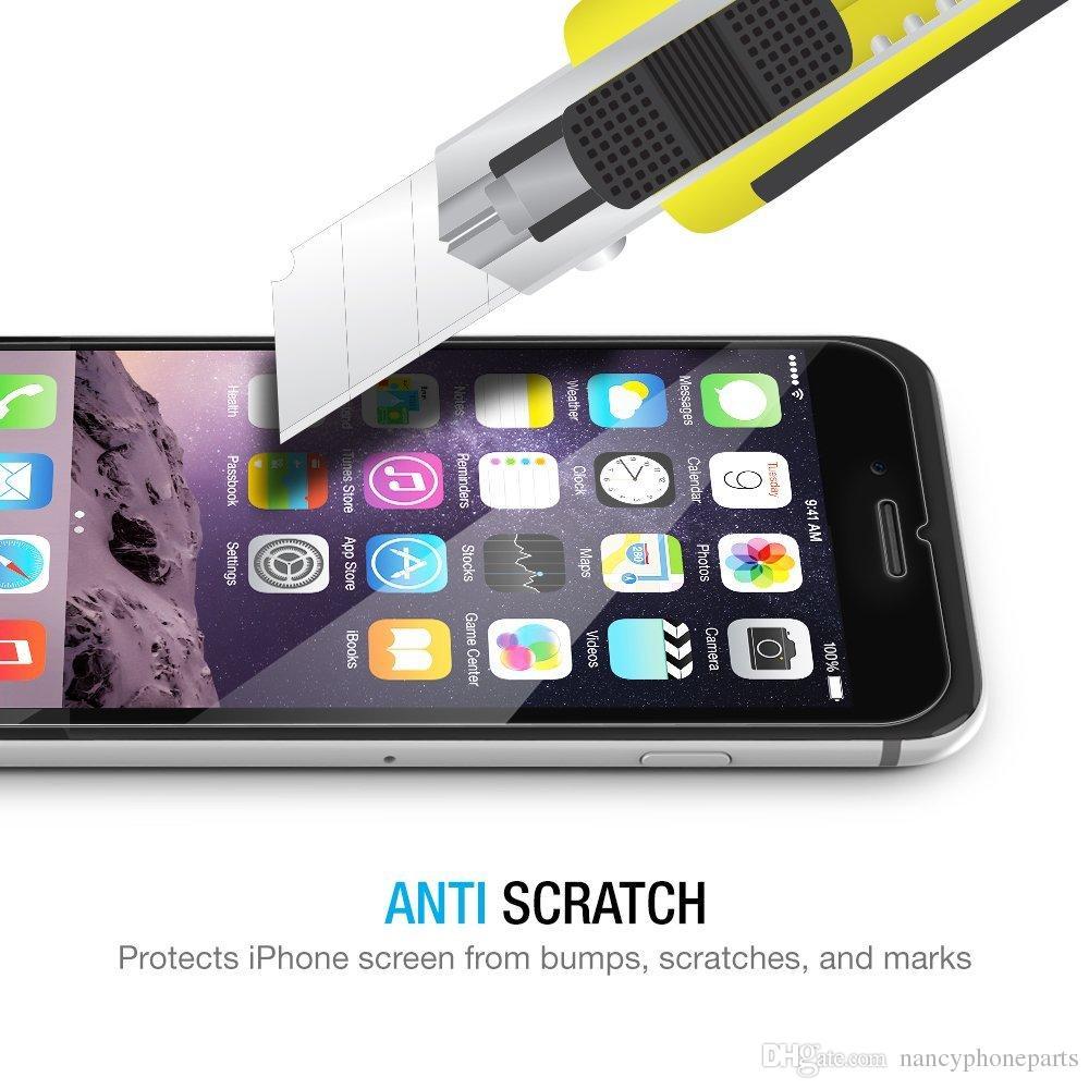 0,3mm 9 h premium vorne und hinten gehärtetem glas für iphone 7 6 s 6 plus 5 se 5 s displayschutzfolie schutzfolie