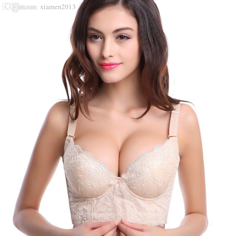 21c72a8a4e 2019 Wholesale Women Sexy Underwire Lace Push Up Bra Brassiere Cup ...