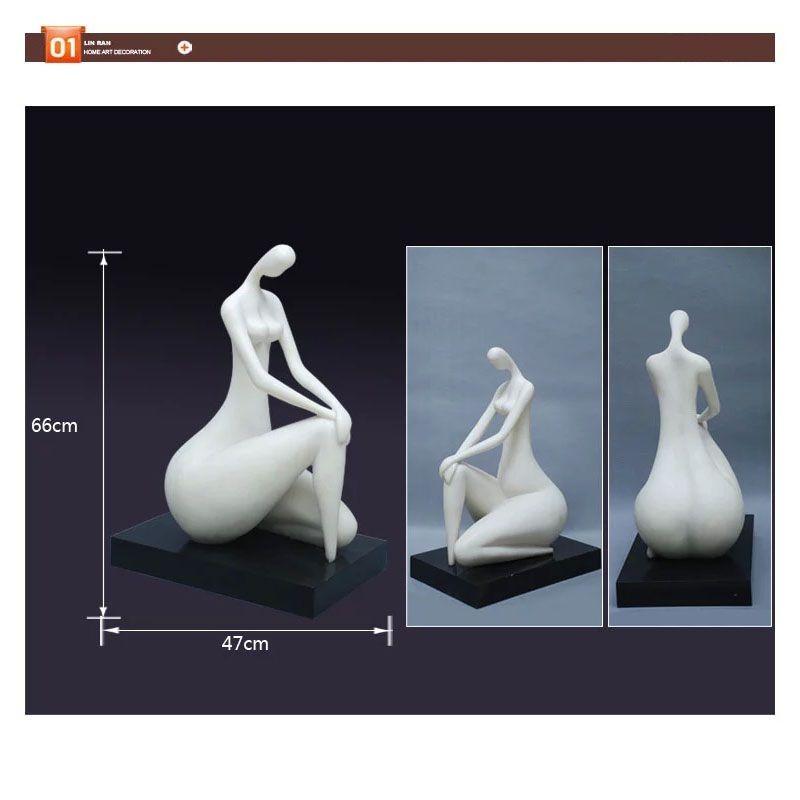 Kunst Weiblichen Körper Skulptur Handwerk Silber Überzogene Abstrakte Kunst Figuren Statue Dekoration Skulptur Handwerk mit Harz für Cafe Dekoration