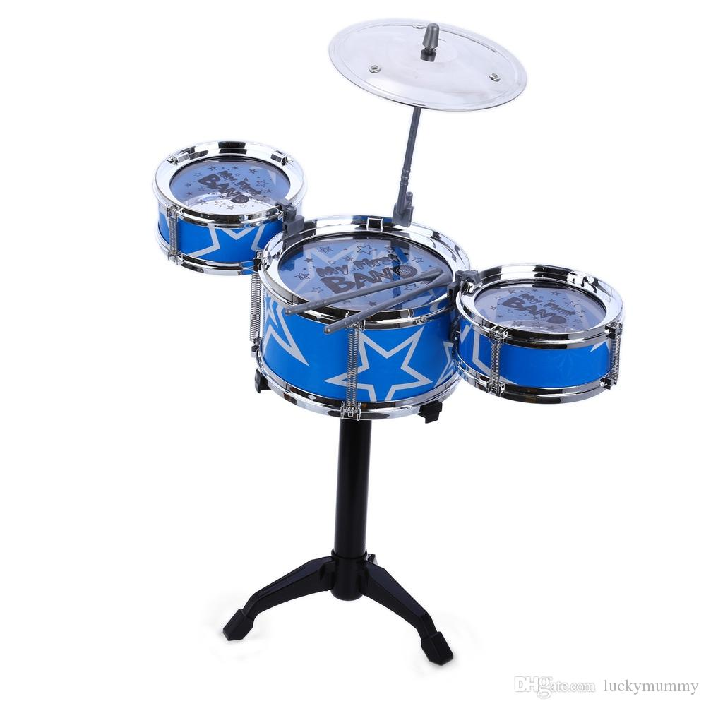 2019 Jazz Rock Drums Set Kids Early Educational Toy Playset Toys
