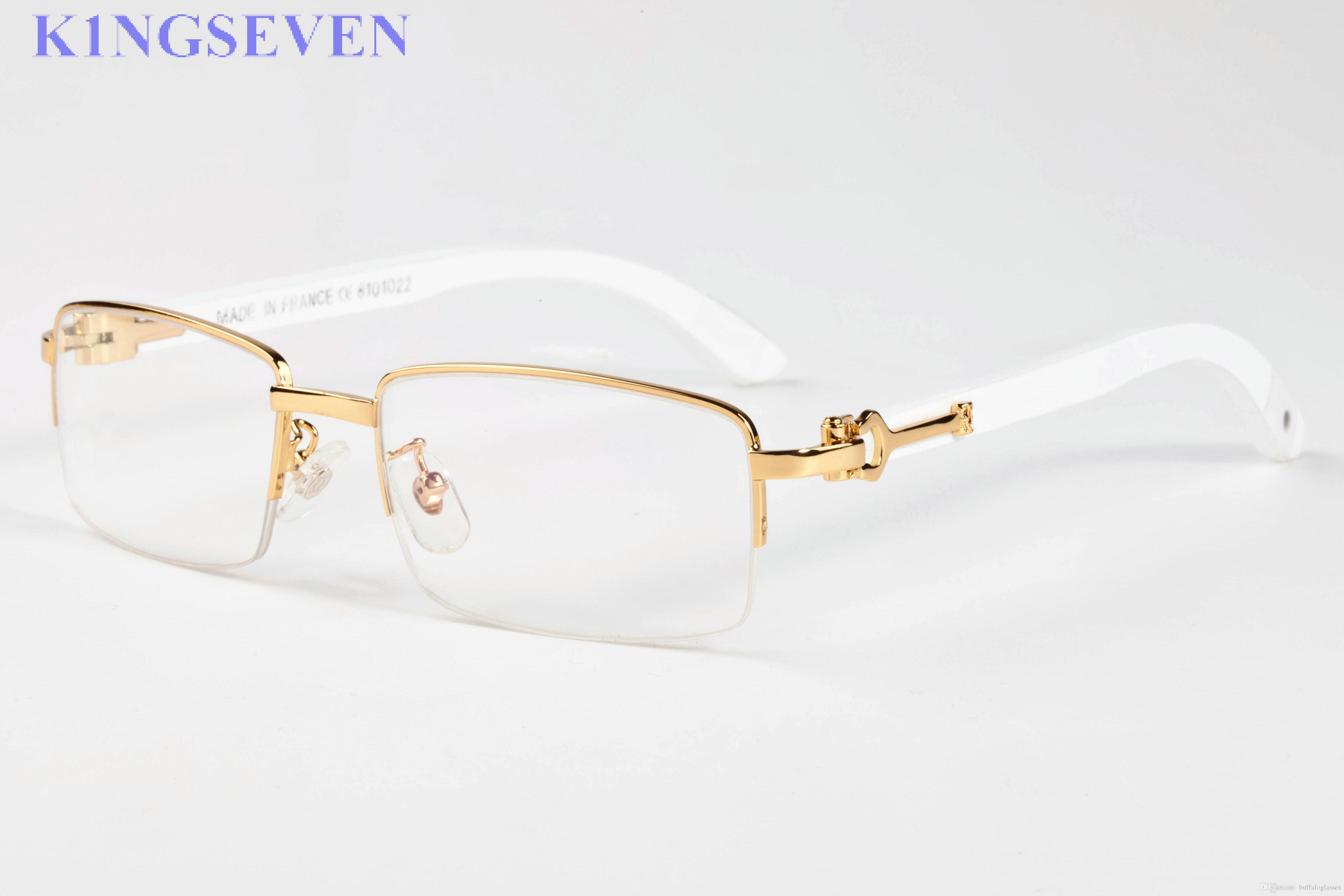 95244a2c0c5 Luxury Brand Sunglasses For Women Semi Rimless Men Buffalo Horn Glasses  With Case Gold White Wood Sunglasses With Box Case Locs Sunglasses Suncloud  ...