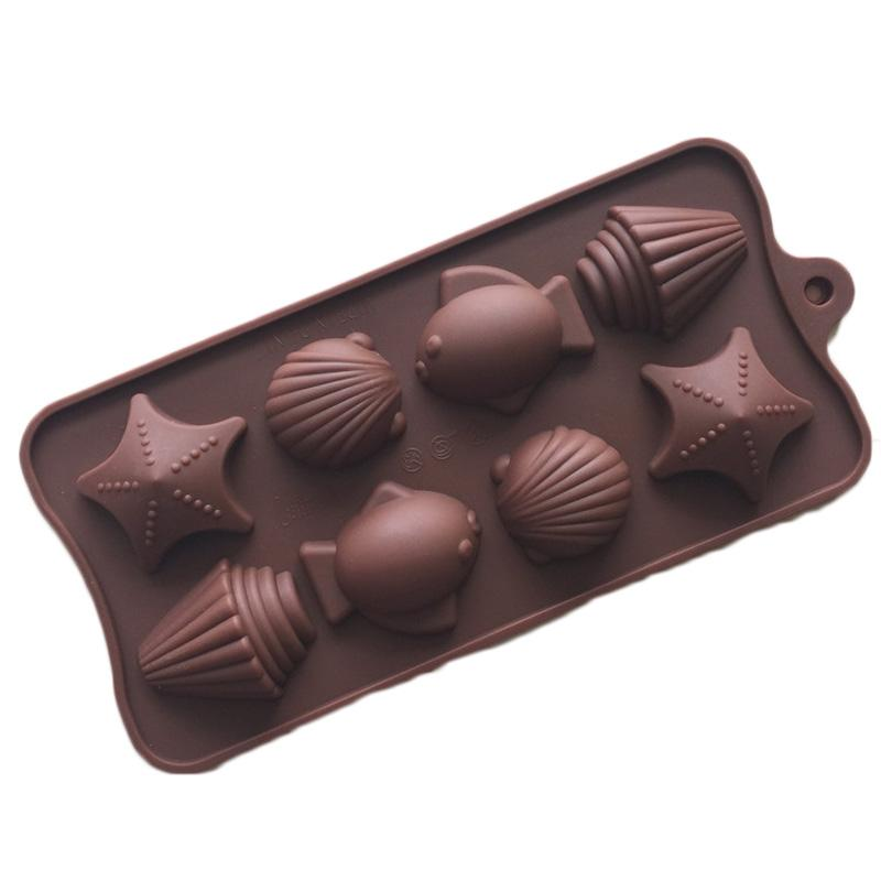 Candy Molds & Ice Cube Trays- Fish&Sea Shell-Silicone Chocolate Molds - Fun, Toy Kids Set for Sale